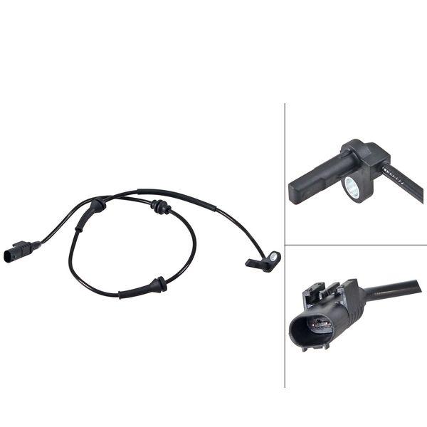 ABS-sensor voorzijde, links of rechts FIAT DOBLO Bestelwagen/Bus 1.3 D Multijet