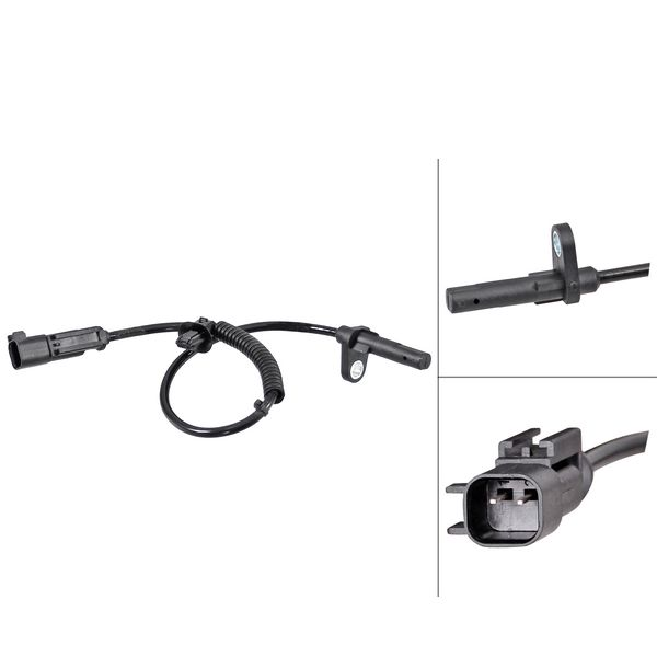 ABS-sensor achterzijde, links of rechts FORD TRANSIT V363 Bus 2.2 TDCi RWD