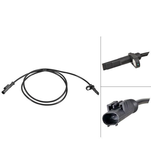 ABS-sensor voorzijde, links of rechts IVECO DAILY VI Bestelwagen/Bus 35S15, 35C15, 40C15, 50C15