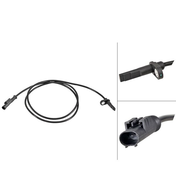 ABS-sensor voorzijde, links of rechts IVECO DAILY VI Bestelwagen/Bus Natural Power 35S14, 35C14, 40C14, 50C14
