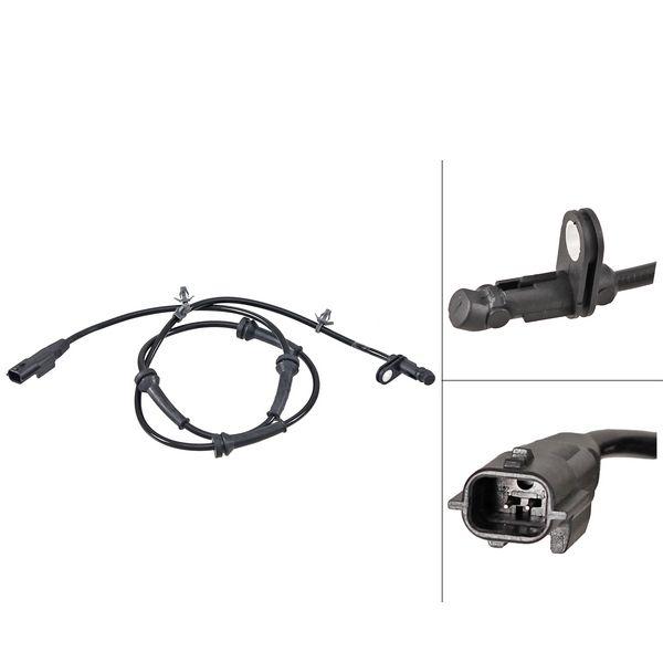 ABS-sensor achterzijde, links of rechts NISSAN QASHQAI / QASHQAI +2 I 1.6 dCi Vierwielaandrijving