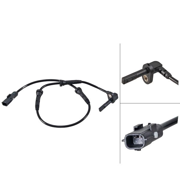 ABS-sensor voorzijde, links of rechts RENAULT CAPTUR I 1.2 TCe 120