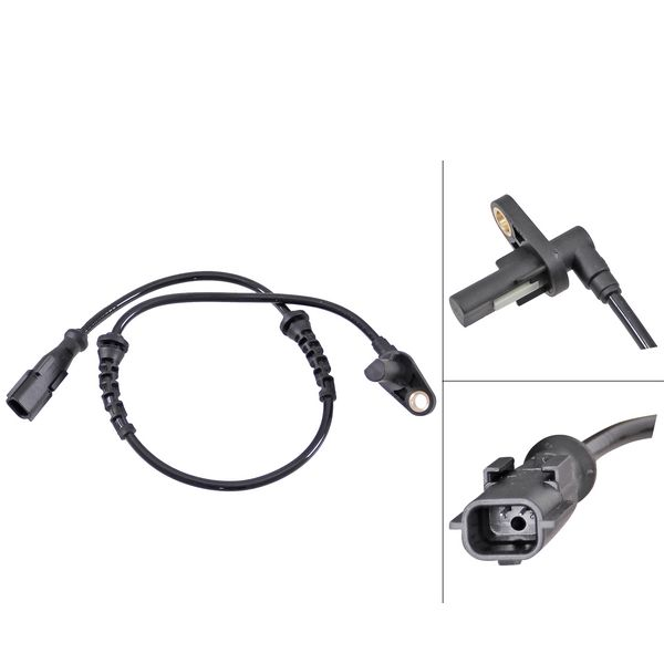 ABS-sensor voorzijde, links of rechts RENAULT THALIA I 1.4