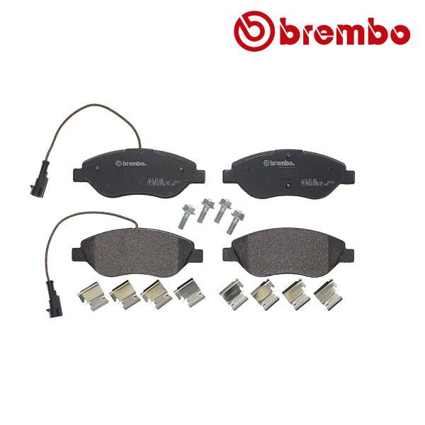 Remblokkenset voorzijde Brembo premium ALFA ROMEO MITO 1.3 MultiJet