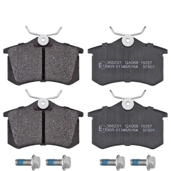 Remblokkenset achterzijde originele kwaliteit AUDI A3 Sportback 1.6 FSI