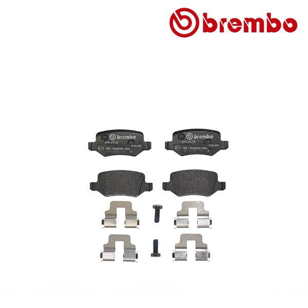 Remblokkenset achterzijde Brembo premium MERCEDES-BENZ B-KLASSE (W245) B 180 NGT