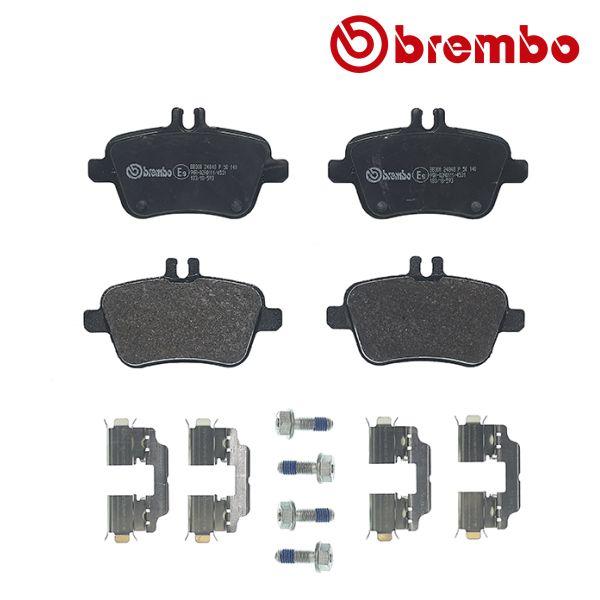 Remblokkenset achterzijde Brembo premium MERCEDES-BENZ B-KLASSE (W246, W242) B 220 CDI / d 4-matic