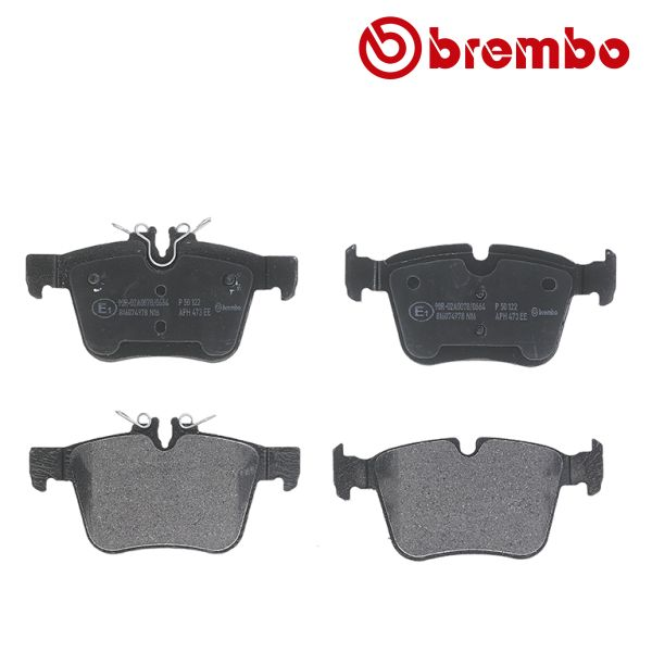 Remblokkenset achterzijde Brembo premium MERCEDES-BENZ C-KLASSE Cabriolet (A205) C 220 d