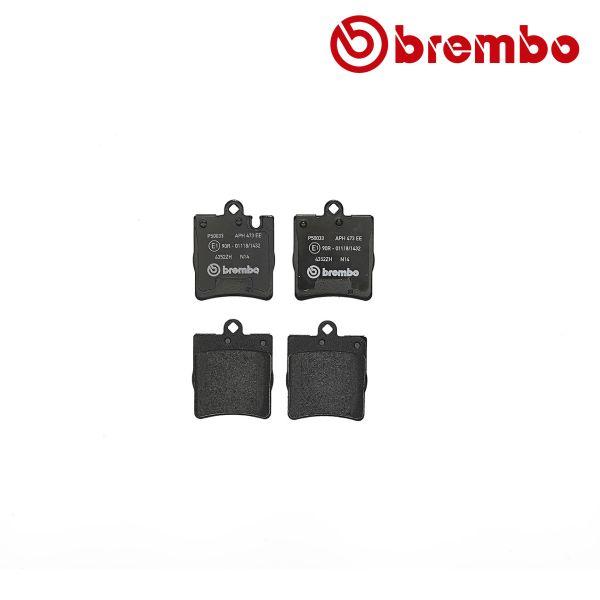 Remblokkenset achterzijde Brembo premium MERCEDES-BENZ C-KLASSE (W203) C 200 CGI Kompressor