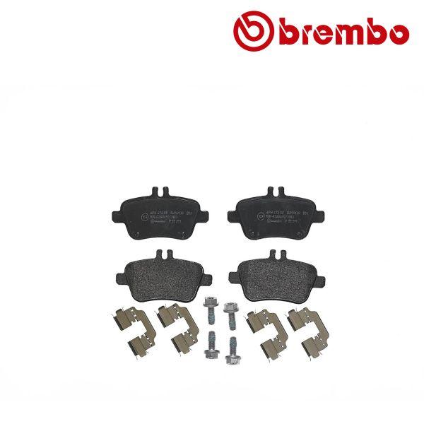 Remblokkenset achterzijde Brembo premium MERCEDES-BENZ GLA-KLASSE (X156) GLA 250 4-matic