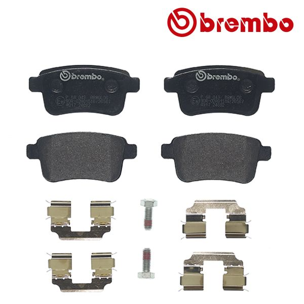 Remblokkenset achterzijde Brembo premium RENAULT KANGOO / GRAND KANGOO 1.5 dCi 90