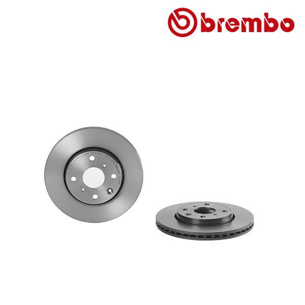 Remschijven voorzijde Brembo premium CITROEN C1 1.0