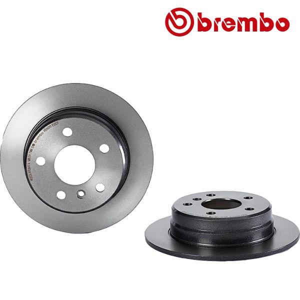 Remschijven achterzijde Brembo premium MERCEDES-BENZ B-KLASSE (W245) B 200 CDI