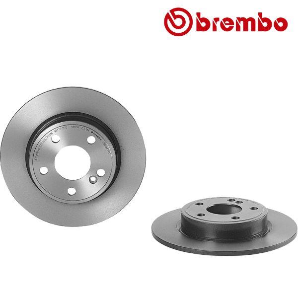 Remschijven achterzijde Brembo premium MERCEDES-BENZ B-KLASSE (W246, W242) B 160 CDI / d