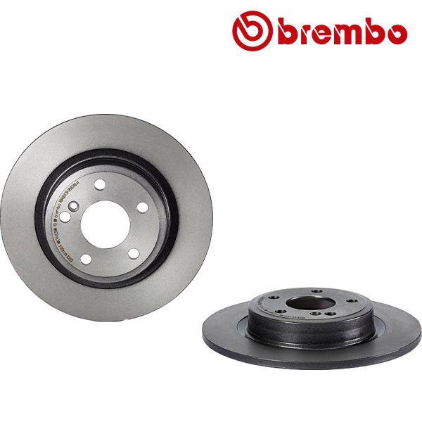Remschijven achterzijde Brembo premium MERCEDES-BENZ B-KLASSE (W246, W242) B 200 CDI / d 4-matic