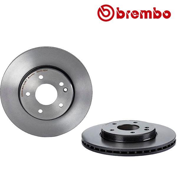Remschijven voorzijde Brembo premium MERCEDES-BENZ C-KLASSE (W202) C 230