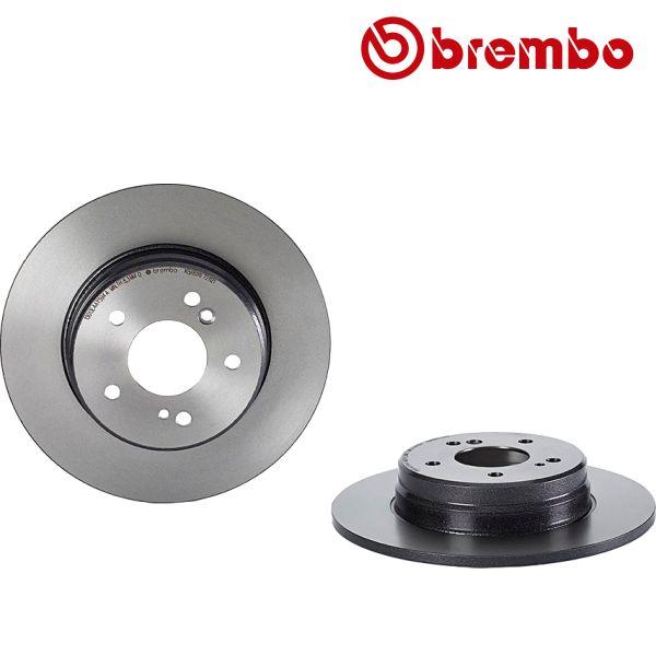Remschijven achterzijde Brembo premium MERCEDES-BENZ C-KLASSE (W203) C 200 CGI Kompressor