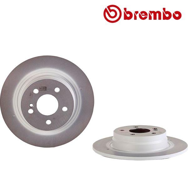 Remschijven achterzijde Brembo premium MERCEDES-BENZ C-KLASSE (W204) C 200 Kompressor