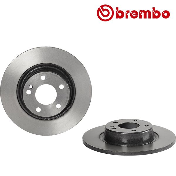 Remschijven achterzijde Brembo premium MERCEDES-BENZ C-KLASSE (W205) C 300 BlueTEC Hybrid / h
