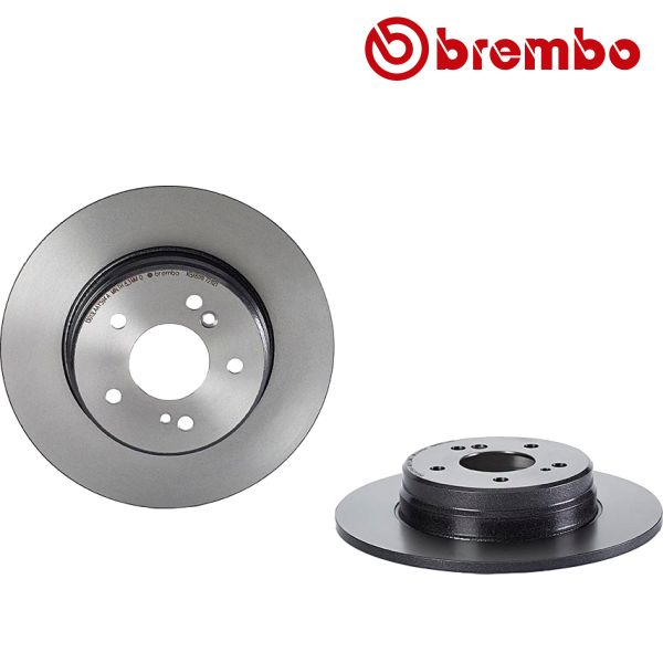 Remschijven achterzijde Brembo premium MERCEDES-BENZ CLK Cabriolet (A209) CLK 200 CGI
