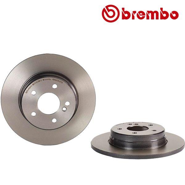 Remschijven achterzijde Brembo premium MERCEDES-BENZ E-KLASSE T-Model (S210) E 290 T Turbo-D