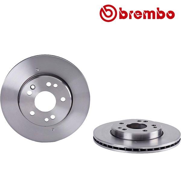 Remschijven voorzijde Brembo premium MERCEDES-BENZ E-KLASSE (W124) E 300 Turbo-D