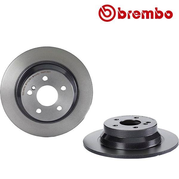 Remschijven achterzijde Brembo premium MERCEDES-BENZ E-KLASSE (W211) E 320 4-matic
