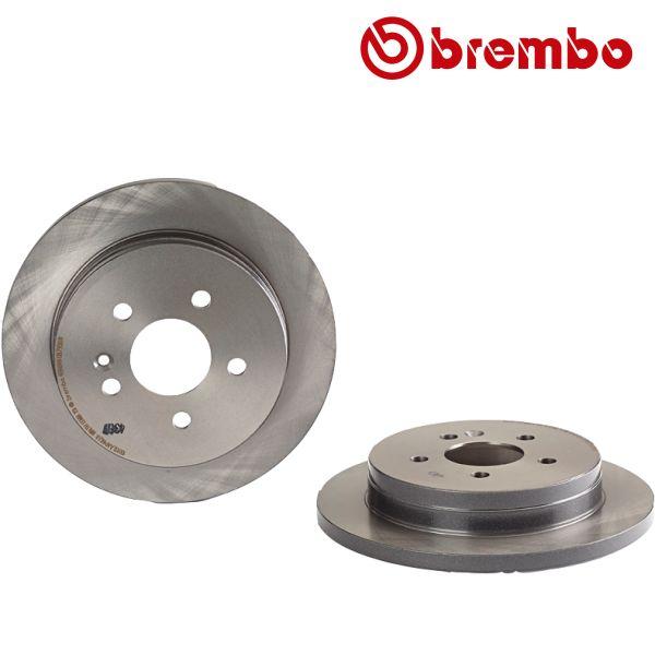 Remschijven achterzijde Brembo premium MERCEDES-BENZ M-KLASSE (W163) ML 270 CDI