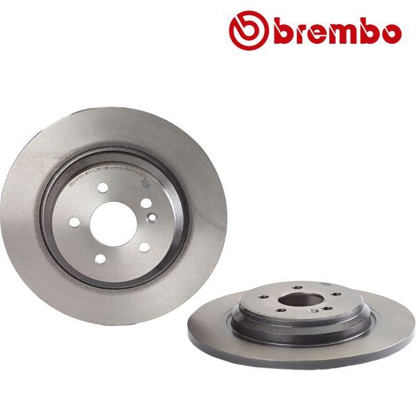 Remschijven achterzijde Brembo premium MERCEDES-BENZ M-KLASSE (W163) ML 400 CDI