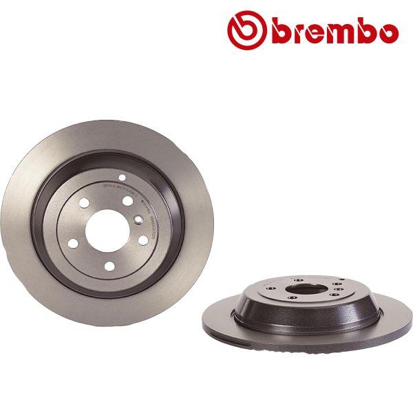 Remschijven achterzijde Brembo premium MERCEDES-BENZ M-KLASSE (W164) ML 350 4-matic
