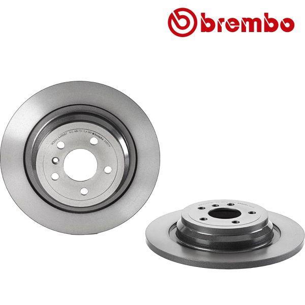 Remschijven achterzijde Brembo premium MERCEDES-BENZ M-KLASSE (W166) ML 350 CDI 4-matic