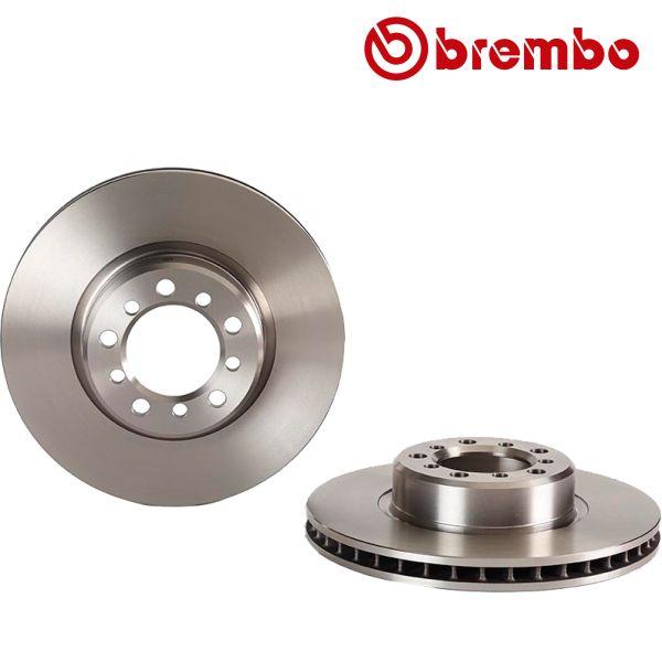 Remschijven voorzijde Brembo premium MERCEDES-BENZ S-KLASSE (W126) 560 SE, SEL