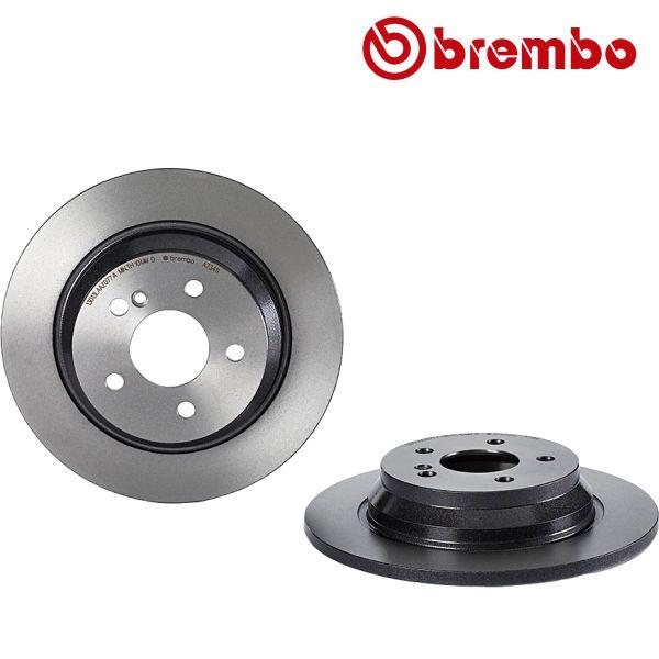 Remschijven achterzijde Brembo premium MERCEDES-BENZ SL (R230) 280