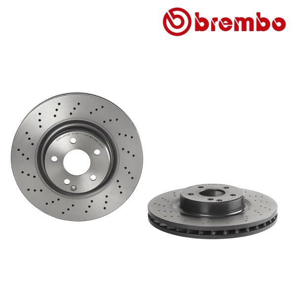 Remschijven voorzijde Brembo premium MERCEDES-BENZ SL (R230) 300