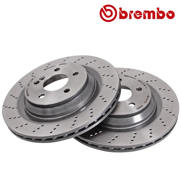 Remschijven achterzijde Brembo premium MERCEDES-BENZ SL (R230) 300