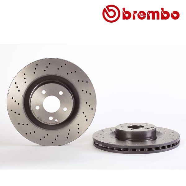 Remschijven voorzijde Brembo premium MERCEDES-BENZ SL (R230) 350