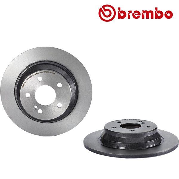Remschijven achterzijde Brembo premium MERCEDES-BENZ SL (R230) 350