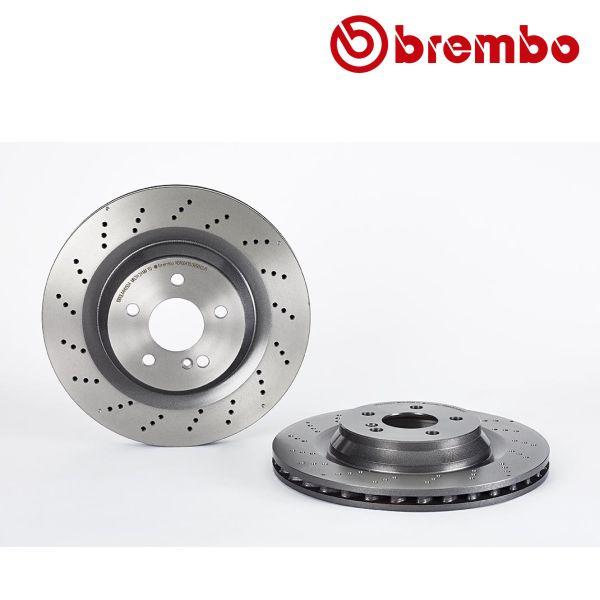 Remschijven achterzijde Brembo premium MERCEDES-BENZ SL (R230) 55 AMG Kompressor