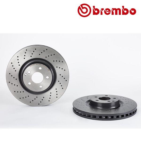 Remschijven voorzijde Brembo premium MERCEDES-BENZ SL (R230) 600