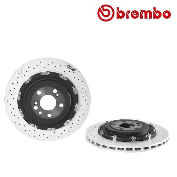 Remschijven achterzijde Brembo premium MERCEDES-BENZ SL (R230) 65 AMG