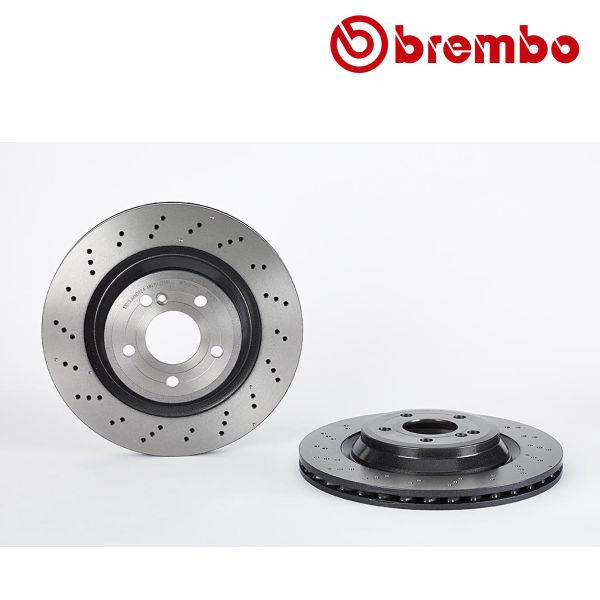 Remschijven achterzijde Brembo premium MERCEDES-BENZ SL (R231) 400