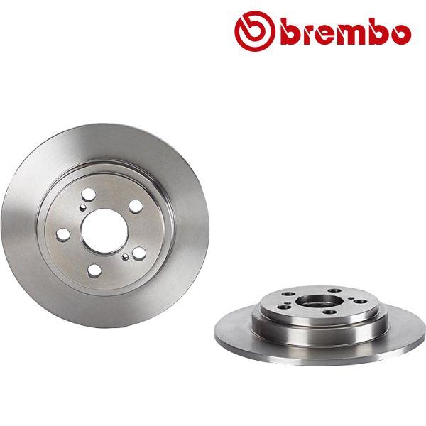 Remschijven achterzijde Brembo premium MERCEDES-BENZ SLC (R172) 180
