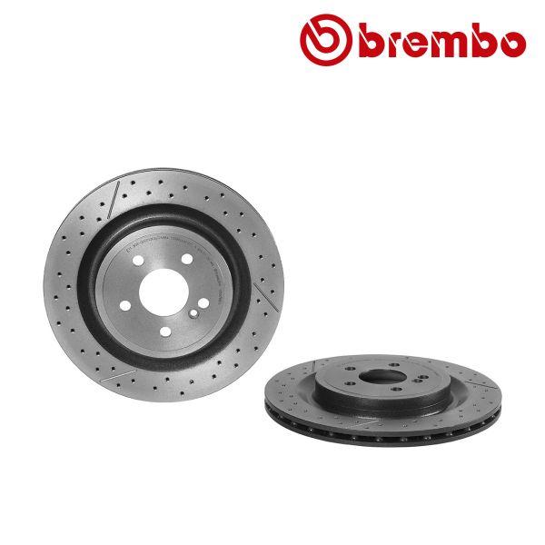 Remschijven achterzijde Brembo premium MERCEDES-BENZ SLC (R172) AMG SLC 43