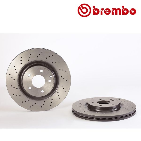 Remschijven voorzijde Brembo premium MERCEDES-BENZ SLK (R171) 350