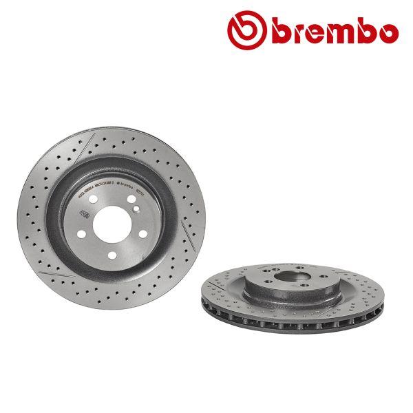 Remschijven achterzijde Brembo premium MERCEDES-BENZ SLK (R171) 55 AMG