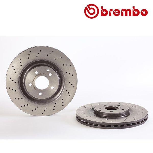 Remschijven voorzijde Brembo premium MERCEDES-BENZ SLK (R171) 55 AMG