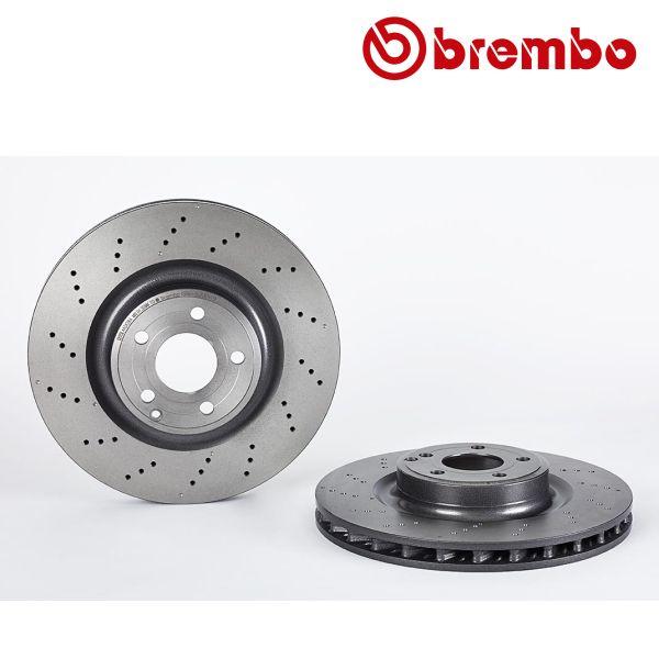 Remschijven voorzijde Brembo premium MERCEDES-BENZ SLK (R172) 350