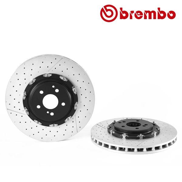 Remschijven voorzijde Brembo premium MERCEDES-BENZ SLS AMG (C197) 6.2 GT
