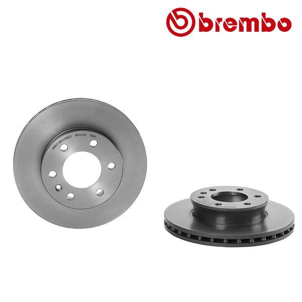 Remschijven voorzijde Brembo premium MERCEDES-BENZ SPRINTER 3,5-t Open laadbak/ Chassis (906) 313 CDI 4x4