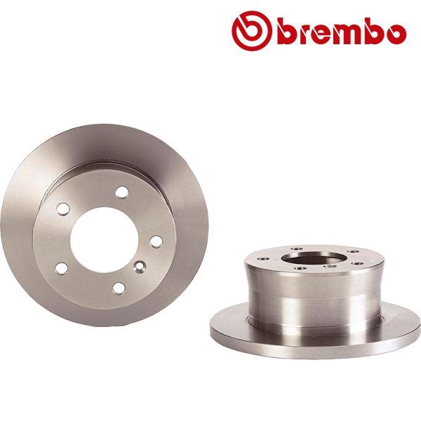 Remschijven achterzijde Brembo premium MERCEDES-BENZ SPRINTER 4-t Open laadbak/ Chassis (904) 408 D